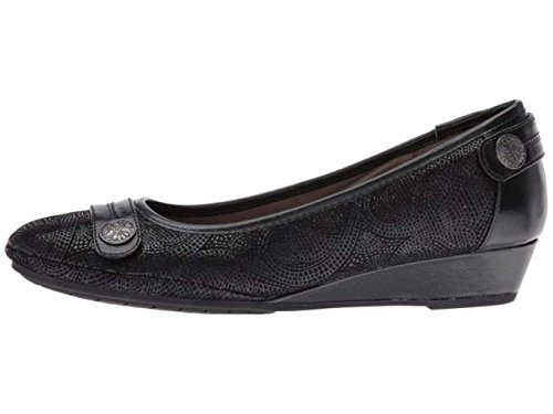 Comfortiva Womens Anne Leather Closed Toe Wedge Pumps, Black, Size 8.0