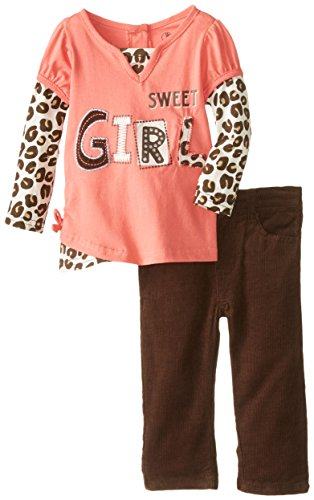 Young Hearts Baby-Boys Newborn 2 Piece Sweet Girl Shirt Set with Pant