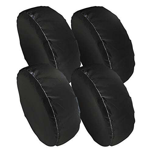 Sunproof Waterproof Car - Tire Covers 4 Pack,Set of 4 Wheel Tire Covers for RV Auto Truck Car Camper Trailer,Waterproof Sun-Proof Weatherproof Tire Protectors(Fits 24