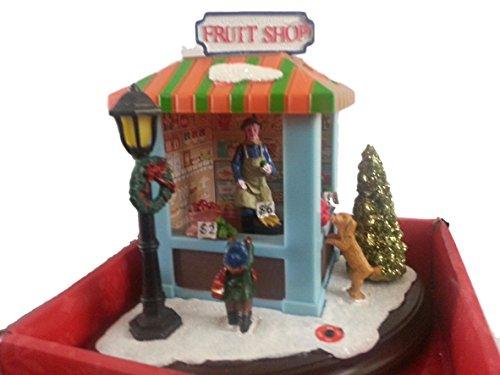 Musical Christmas Dinaorama Vintage Fruit Stand Musical Lights (Vintage Christmas Figurine)