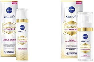 NIVEA Cellular LUMINOUS 630 Antimanchas Crema de Día FP50 + Antimanchas Sérum Tratamiento Avanzado
