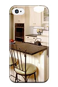 ARrSVfG4335WPDMa Case Cover Retro Kitchen With Farmhouse Sink And Plank Flooring Iphone 4/4s Protective Case