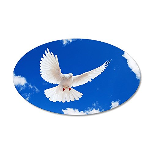 (CafePress - Purity Dove Wall Decal - 20x12 Oval Wall Decal, Vinyl Wall Peel, Reusable Wall Cling)