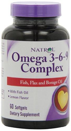 Natrol Omega 3-6-9 Les gélules complexes, 60-Count