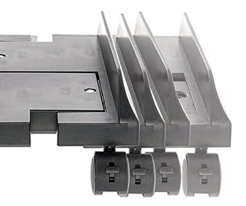 Eurosell - PREMIUM Tower Carrito con ruedas (Ordenador PC Desktop Soporte con ruedas para Universal Plástico Soporte de metal negro negro - Extensible ...