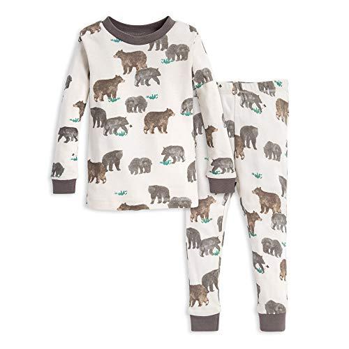 24 Months 2 Piece - Burt's Bees Baby Baby Pajamas, Tee and Pant 2-Piece PJ Set, 100% Organic Cotton, Friendly Bears, 24 Months