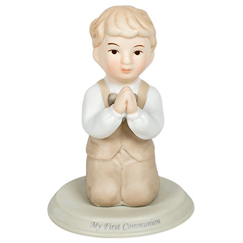 - Pacific Giftware First Communion Little Boy Praying on Knees Statue Fine Porcelain Figurine, 5.25