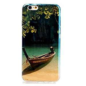 HJZ Lake Pattern Blu-ray TPU Cover for iPhone 6 Plus