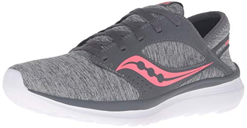 Saucony Women's Kineta Relay Sneaker, Gray/Heather/Coral, 075 M US