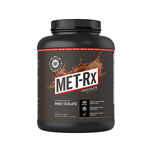 MET-Rx Ultramyosyn Whey Protein Isolate Powder, Great for Meal Replacement Shakes, Low Carb, Gluten Free, Chocolate, 5 lbs