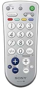 Sony RMEZ4T.CE7 - Mando a distancia sencillo, con botones grandes para TV y teletexto, color plata