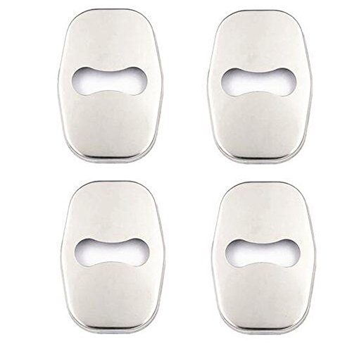 VIGORWORK 4pcs/set Car Door Lock Cover Sticker Protective Case Trim For Peugeot 308S 408 508 2008 3008 stainless steel Car Styling