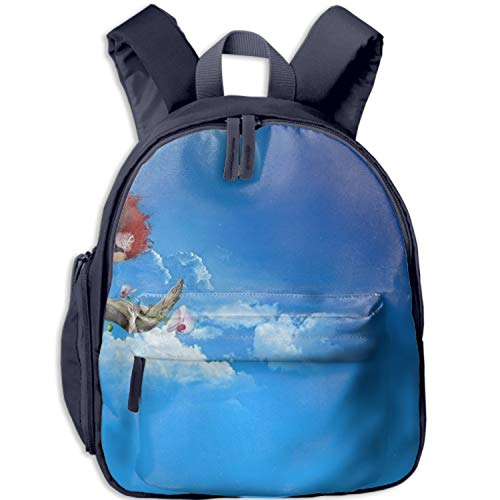 (Macaw On The Branch Print Durable Kids Back to School Backpack Canvas Book Bag)