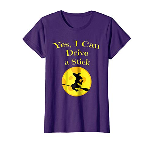 Womens Yes I Can Drive A Stick Halloween