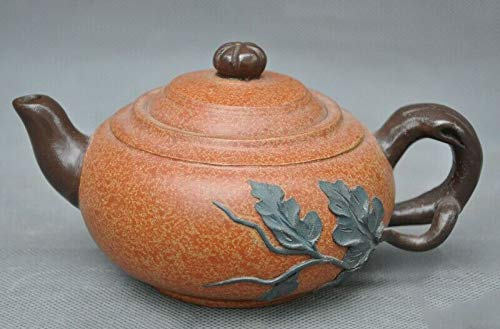 Pottery Old Zisha - SIYAO Wedding Decoration Old Chinese Yixing Zisha Pottery Hand-Carved Melon Leaf Teapot Tea Set Tea Maker