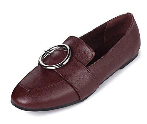 Frau Frühling Aufzug Schuhe flach Mund sondert Schuhe des Fuß Metallschuh mit quadratischem Kopf höher in den Schuhen der Damen niedrige Schuhe , US6.5-7 / EU37 / UK4.5-5 / CN37