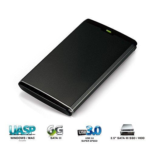 Mediasonic USB 3.0 to 2.5″ SATA HDD / SSD Aluminum Enclosure – Support UASP and SATA 3 6.0Gbps HDD Transfer Speed (HDK-SU3)