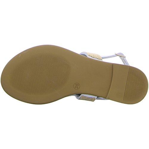 Inuovo 6048-white - Sandalias de vestir de Piel para mujer Blanco - blanco
