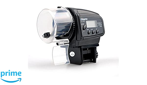 Xrten Alimentador Automático de Peces Dispensador de Comida Acuario con Pantalla LCD para Acuario Pescado: Amazon.es: Electrónica