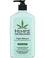 Hempz Triple Moisture Herbal Whipped Body Creme, 17...