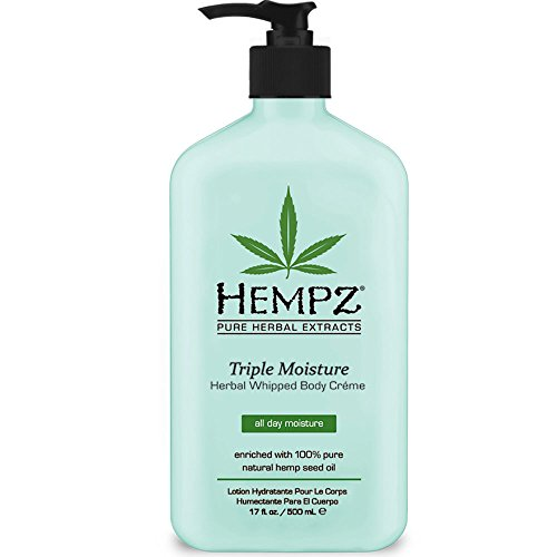Natural, Triple Moisture Herbal Whipped Body Creme with 100% Pure Hemp Seed Oil for 24-Hour Hydration - Moisturizing Vegan Skin