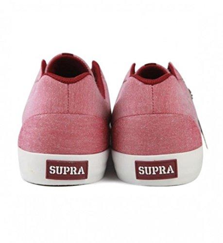 SUPRA Skateboard Schuhe Assault 'Napa' Burgund/Weiß