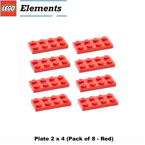 lego-parts-plate-2-x-4-pack-of-8-red