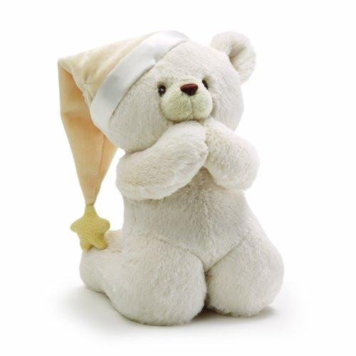 GUND Prayer Teddy Bear Musical Baby Stuffed Animal