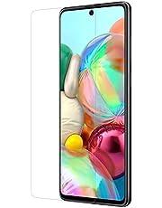 شاشة حماية زجاجية لموبايل سامسونج جالاكسي A71 - شفافة