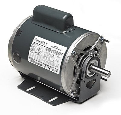 277 VAC Marathon B608 56 Frame Open Drip Proof 56C17D2113 Belt Drive Motor 1725 RPM 1//2 hp 1 Speed Ball Bearing 1 Split Phase Resilient Ring Mount