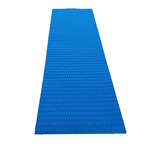 DYNWAVE EVA Foam Marine Flooring Sheet Self-Adhesive Yacht Pad 5mm Boat Floor Mat (Size: 86.61 x 25.59 x 0.20inch) - Blue