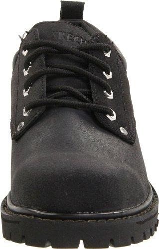 Skechers USA Mens Alley Cat Utility Shoe Black UosMPWCz1R