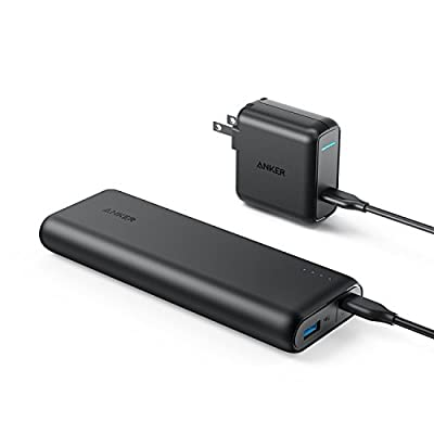 Anker PowerCore Speed 20000 PD, 20100mAh Portable Charger & 30W Power Delivery Wall Charger Bundle, Input & Output Type C Power Bank for Nexus 5X 6P, LG G5, iPhone 8 / X and Macbooks from Anker