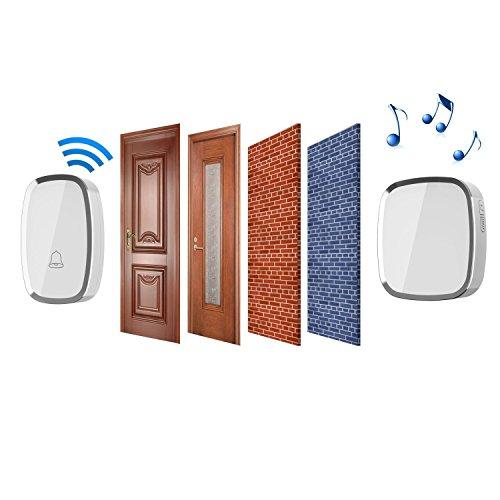 wireless doorbell ilome waterproof doorbell chime kit 1000 import it all. Black Bedroom Furniture Sets. Home Design Ideas