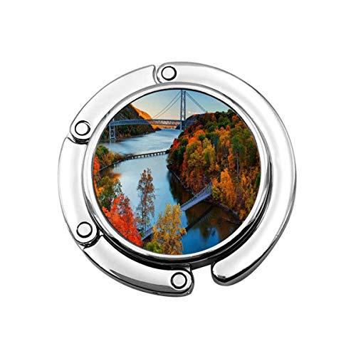 Purse Hook Hudson River Valley Autumn Handbag Hanger for Table Office Decor Compact Wallet Counter Womens