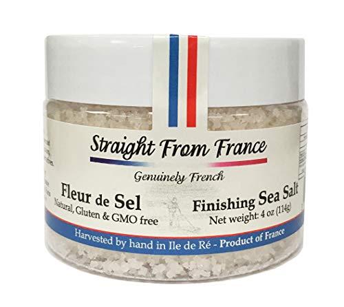 Straight from France French Fleur De Sel Finishing Sea Salt (4 oz)