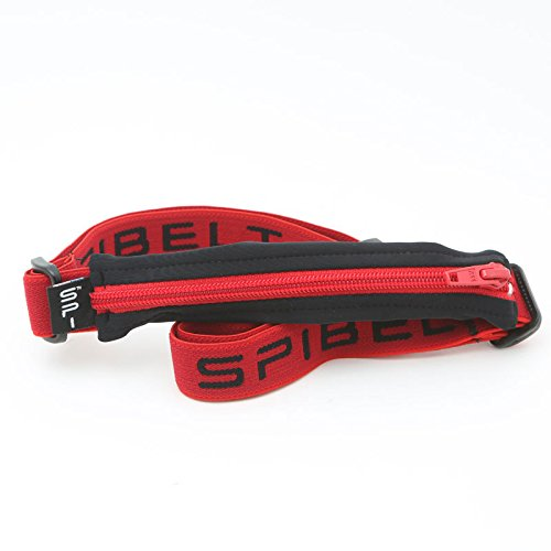 (SPIbelt Running Belt: Adult High Visibility - Original No-Bounce Running Belt for Runners, Athletes and Adventurers (Red Pocket with Red Zipper and Band, One Size))
