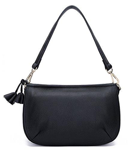 Saierlong New Dark Green Woman First Layer Of Leather Shoulder Bag Black