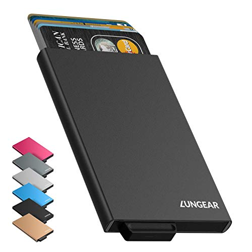 Credit Card Holder LunGear Minimalism Front Pocket Slim Wallet Card Protector for Men or Women Pop up Design Up to Hold 6 - Accessories Aviation Electronics