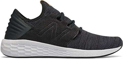 New Balance Men's Fresh Foam Cruz v2 Knit Black Magnet Running Shoe 11.5 Men US