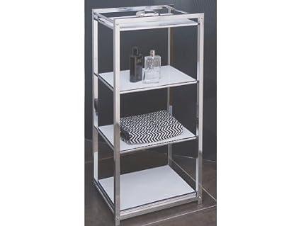Ggg möbel scaffale per bagno scaffale in vetro cromato ripiani