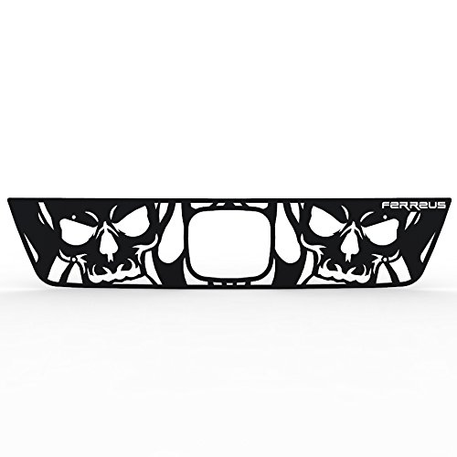 Ferreus Industries Grille Insert Guard Skull Flame Black Powdercoat fits: 2003-2006 Honda Element TRK-140-10-Black-a
