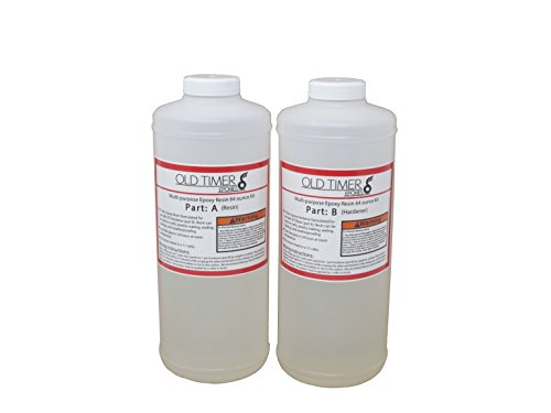 Multi-Purpose Clear Casting & Coating Epoxy Resin - 64 Ounce Kit by Old Timer Industries LLC.
