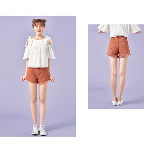 Shorts Hot d't FANG Thin tudiant en multicolore Size Pantalon Macaron denim pants Yellow Brown Color Femme Coton long S BUSINE mi QI qA0wzgtw