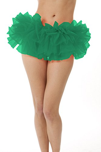 [Adult Tutu Skirt, by BellaSous. Perfect as a Halloween Costume, Princess tutu, Ballet tutu, Adult Dance Skirt, or as a Petticoat Skirt. Plus size tutu available. Plus Size - Kelly Green] (Plus Size Ballerina Costumes)