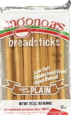 Angonoa Plain Bread Sticks 3.25 OZ(Pack of 12) by Angonoa (Image #1)