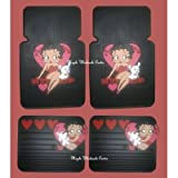 4PC Betty Boop Heart & Dog Front and Rear Floor Mats for Car Suv Truck