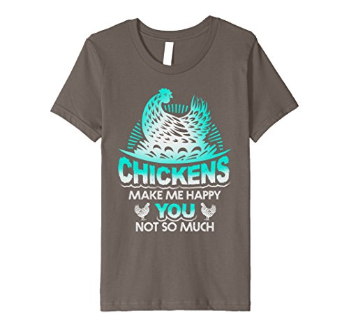 unisex-child Chickens Make Me Happy Funny Chicken T Shirt 10 Asphalt