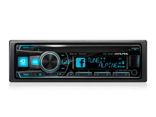 Alpine CDE-185BT Car Stereo (Bluetooth, iPod Control:iPod Plug-In only,)