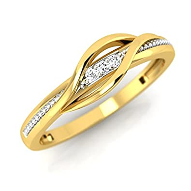 06988af59 Buy Pristine Fire Yellow Gold and Diamond Ring for Women Online at Low  Prices in India   Amazon Jewellery Store - Amazon.in